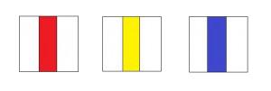Marcaje montane - bandă verticală